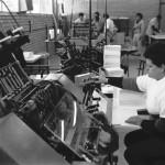 Funcionários e máquinas da IU - 01-08-1989