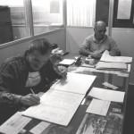 Funcionários no Escritório da IU - 20-06-1990
